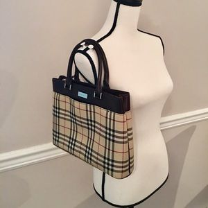 Authentic Burberry nova Check Canvas Tote